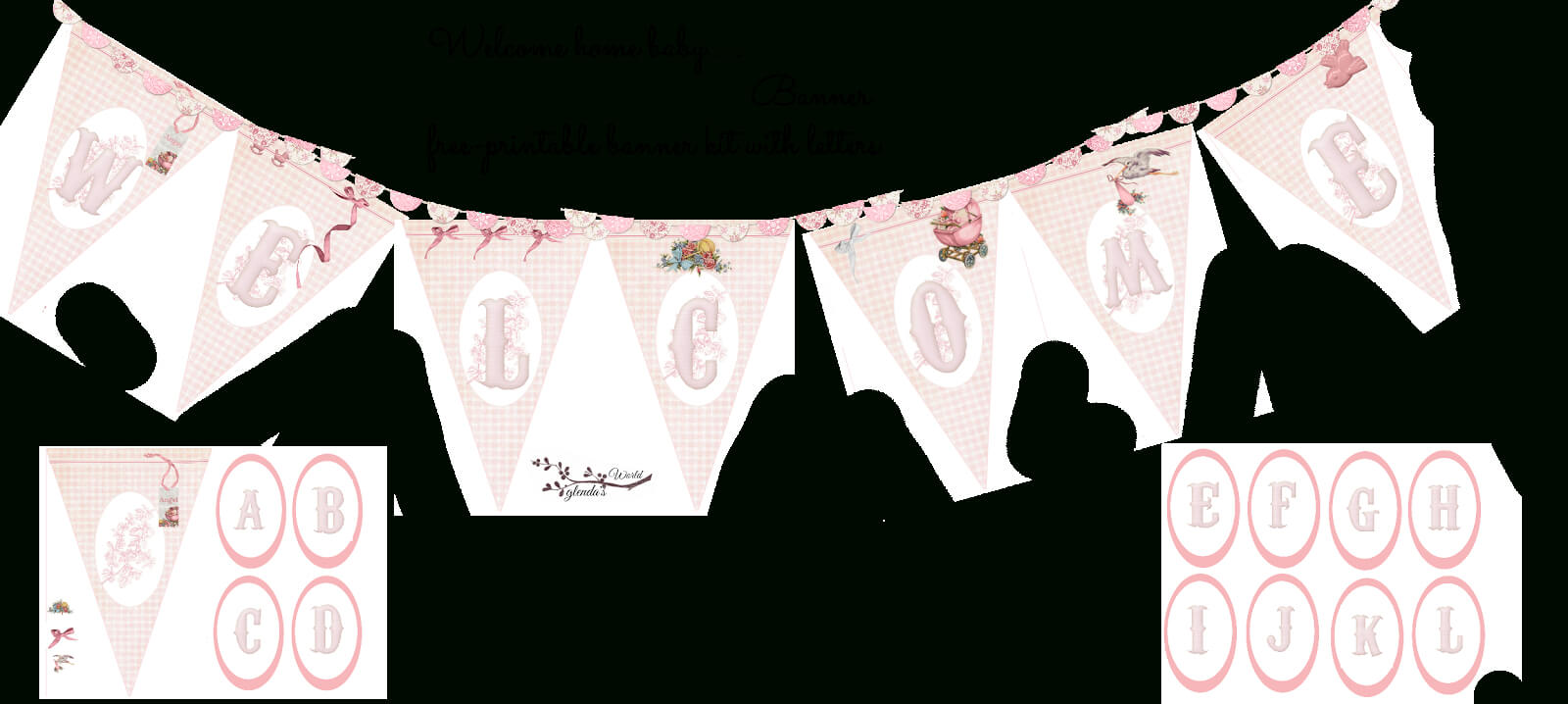 Welcome Home Baby Girl Banner   Welcome Home Baby, Welcome Within Christening Banner Template Free