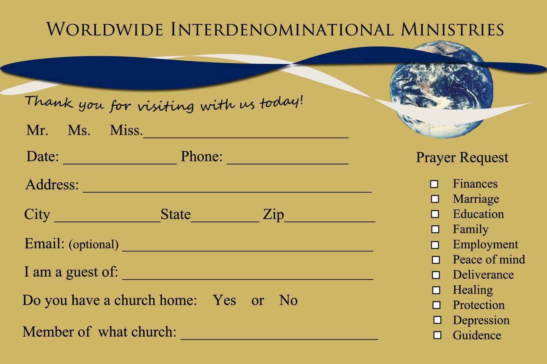 Welcome To Rhema Church Cards | Jesus Is Lord | Card For Church Visitor Card Template