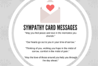 What To Write In A Business Sympathy Card: Some Sample within Sorry For Your Loss Card Template