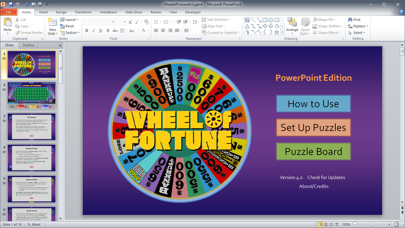 Wheel Of Fortune For Powerpoint - Gamestim Within Wheel Of Fortune Powerpoint Game Show Templates