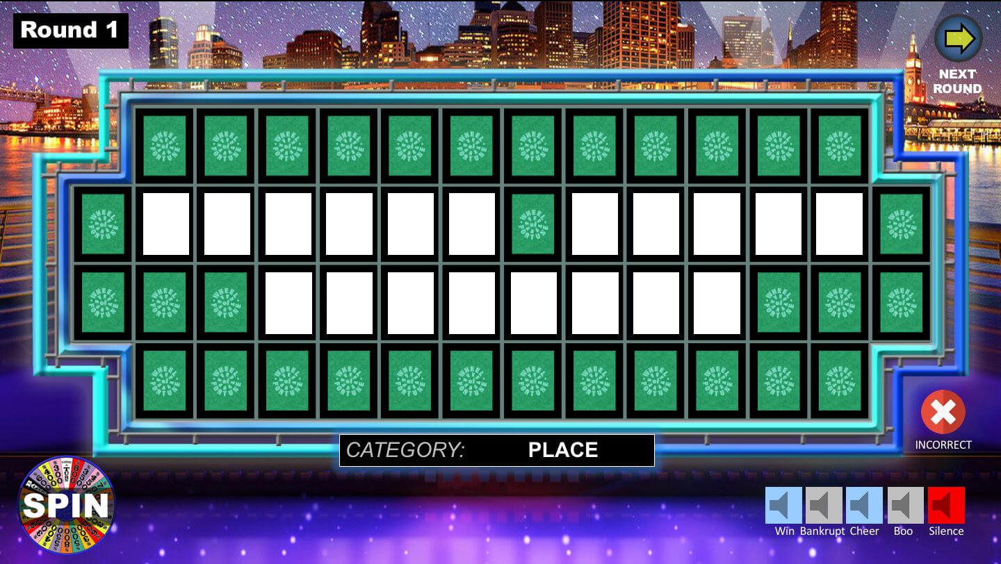Wheel Of Fortune Powerpoint Game - Youth Downloadsyouth With Regard To Wheel Of Fortune Powerpoint Game Show Templates