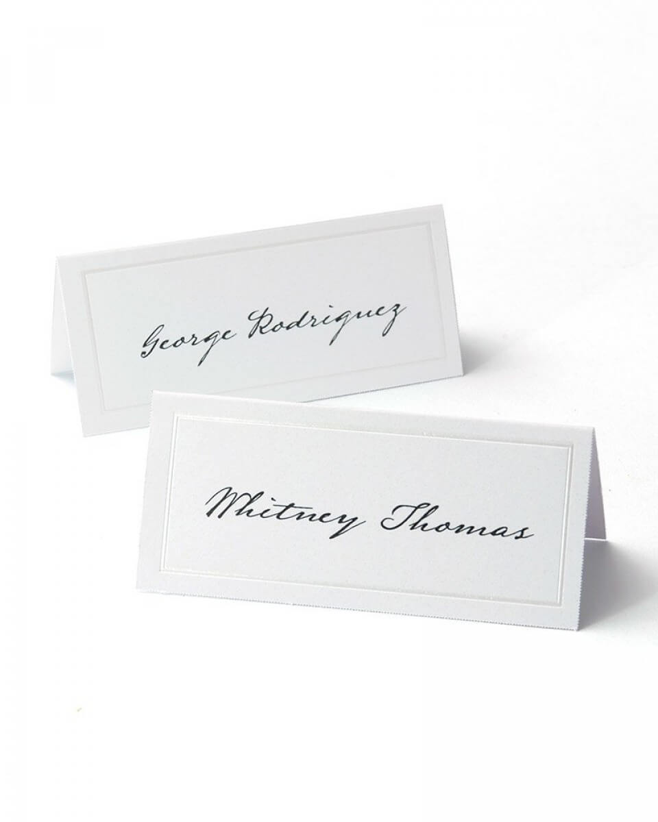 White Pearl Border Printable Place Cards In Gartner Studios Place Cards Template