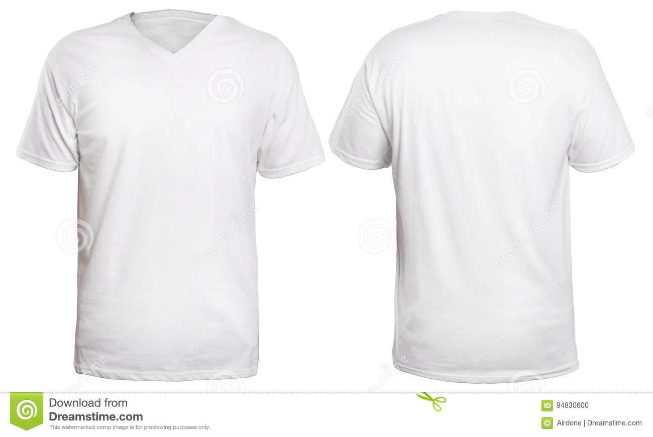White V Neck Shirt Mock Up Stock Photo. Image Of Space Pertaining To Blank V Neck T Shirt Template