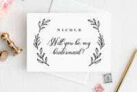 Will You Be My Bridesmaid Card, Instant Download with regard to Will You Be My Bridesmaid Card Template
