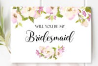 Will You Be My Bridesmaid Card. With Beautiful And Romantic intended for Will You Be My Bridesmaid Card Template