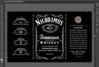 Will You Be My Groomsman Whiskey Bottle Invitation Best Man pertaining to Blank Jack Daniels Label Template