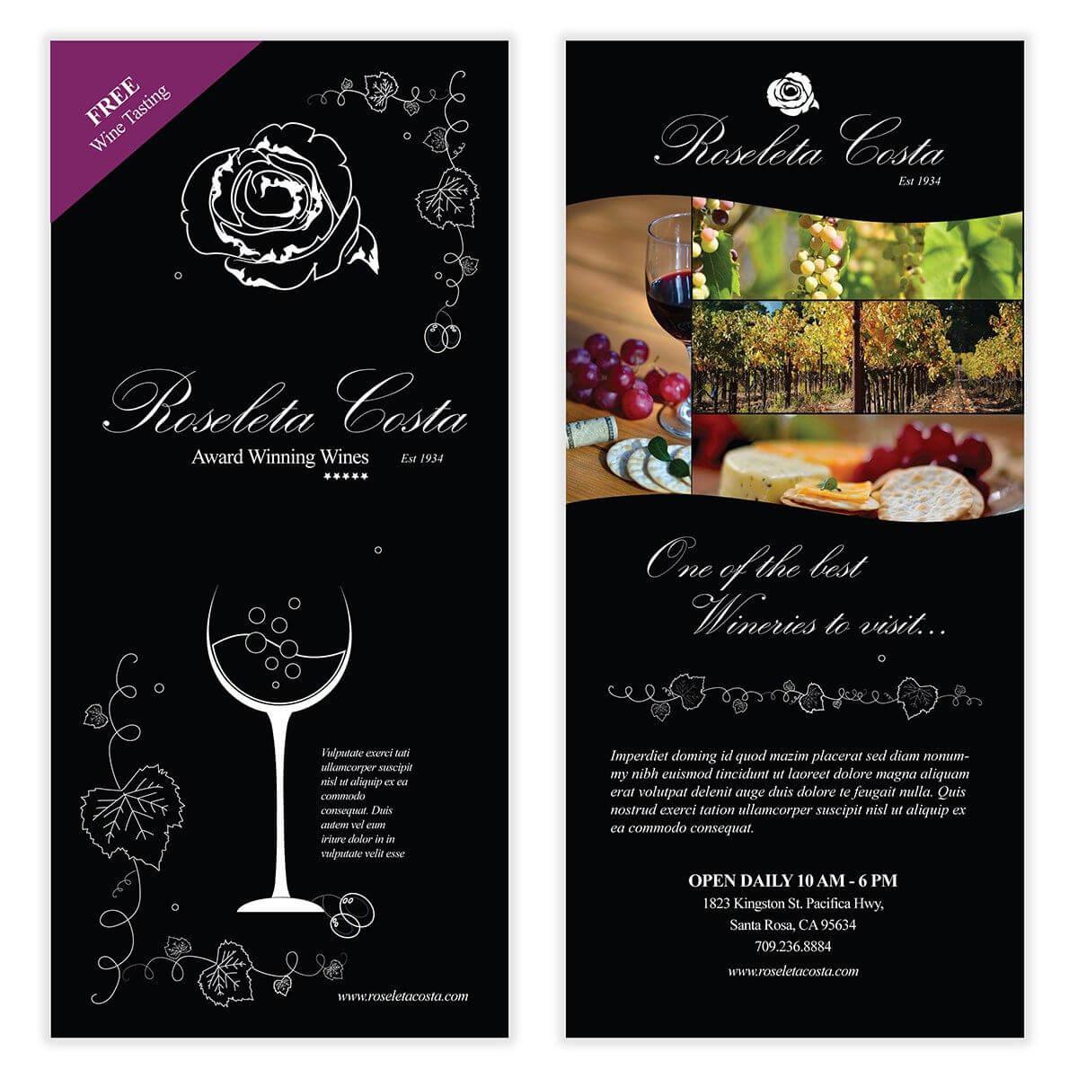 Wine Flyer Template 03 | Flyer Template, Wine, Templates Regarding Wine Brochure Template