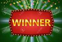 Winner Frame Label Banner Template. Win Congratulations Vintage.. inside Congratulations Banner Template