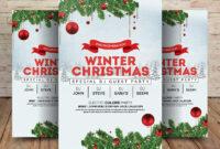 Winter Wonderland Christmas – Psd Flyer Template – Free Psd with Christmas Brochure Templates Free