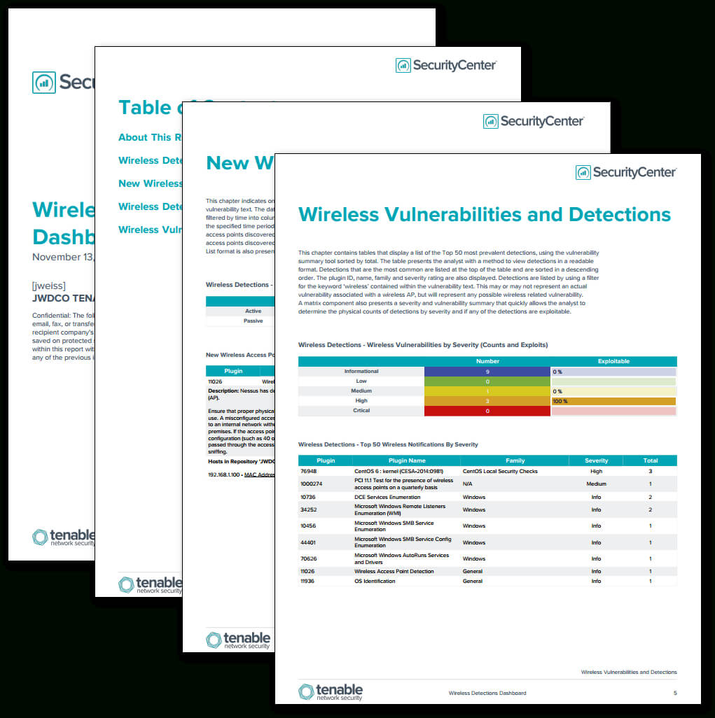 Wireless Detections Report – Sc Report Template   Tenable® Pertaining To Nessus Report Templates