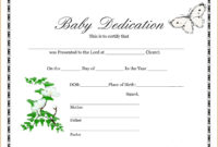 Wonderful Baby Dedication Certificate Template Ideas Free in Birth Certificate Fake Template
