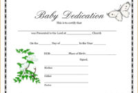 Wonderful Baby Dedication Certificate Template Ideas Free within Build A Bear Birth Certificate Template