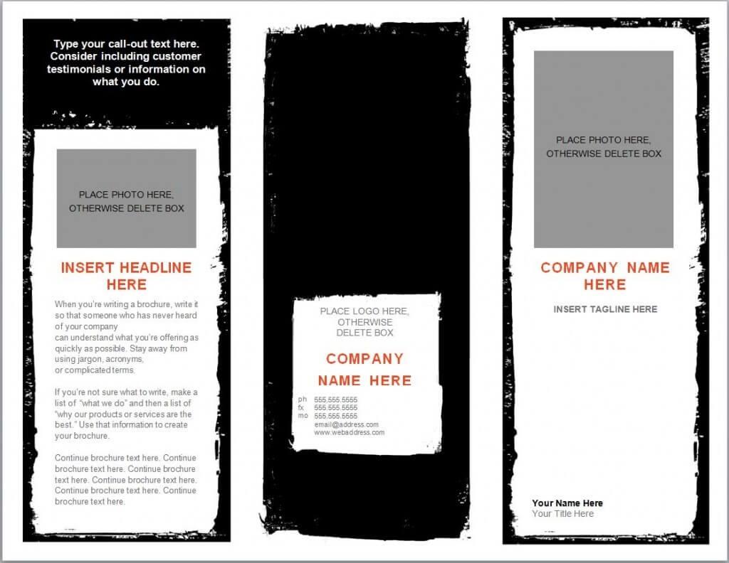 Word Brochure Template   Brochure Templates Word For Word 2013 Brochure Template
