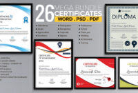 Word Certificate Template – 53+ Free Download Samples within Free Certificate Templates For Word 2007