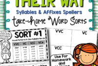 Words Their Way — Syllables & Affixes Sorts (1-56 for Words Their Way Blank Sort Template