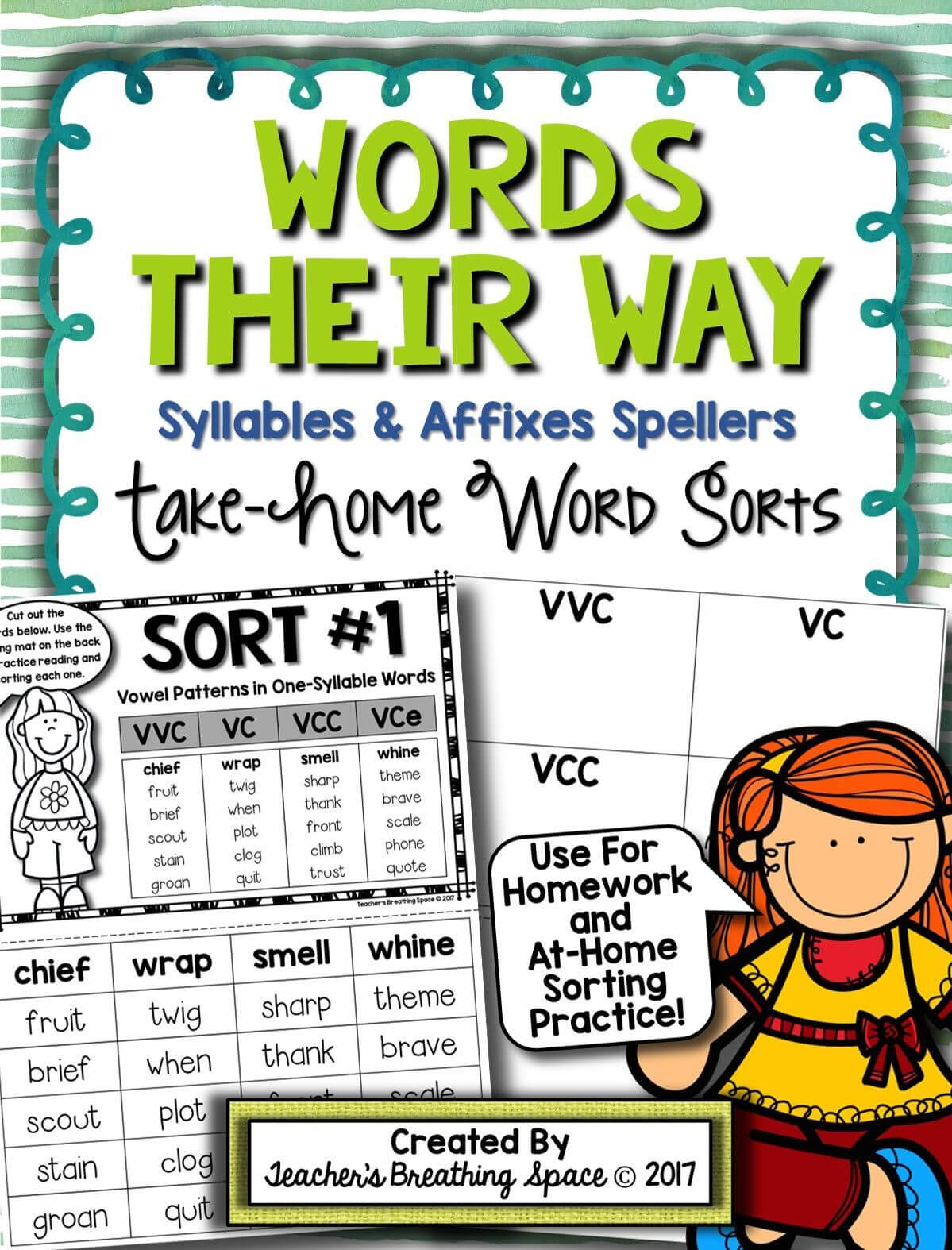 Words Their Way    Syllables & Affixes Sorts (1 56 For Words Their Way Blank Sort Template