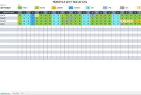 Work Rotation Schedule | Monthly Schedule Template, Schedule with regard to Blank Monthly Work Schedule Template