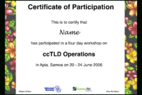 Workshop Participation Certificate | Templates At intended for Certificate Of Participation In Workshop Template