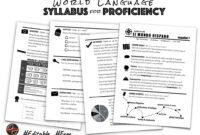 World Language Syllabus For Proficiency | Creative Language pertaining to Blank Syllabus Template