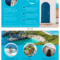 World Travel Tri Fold Brochure throughout Island Brochure Template