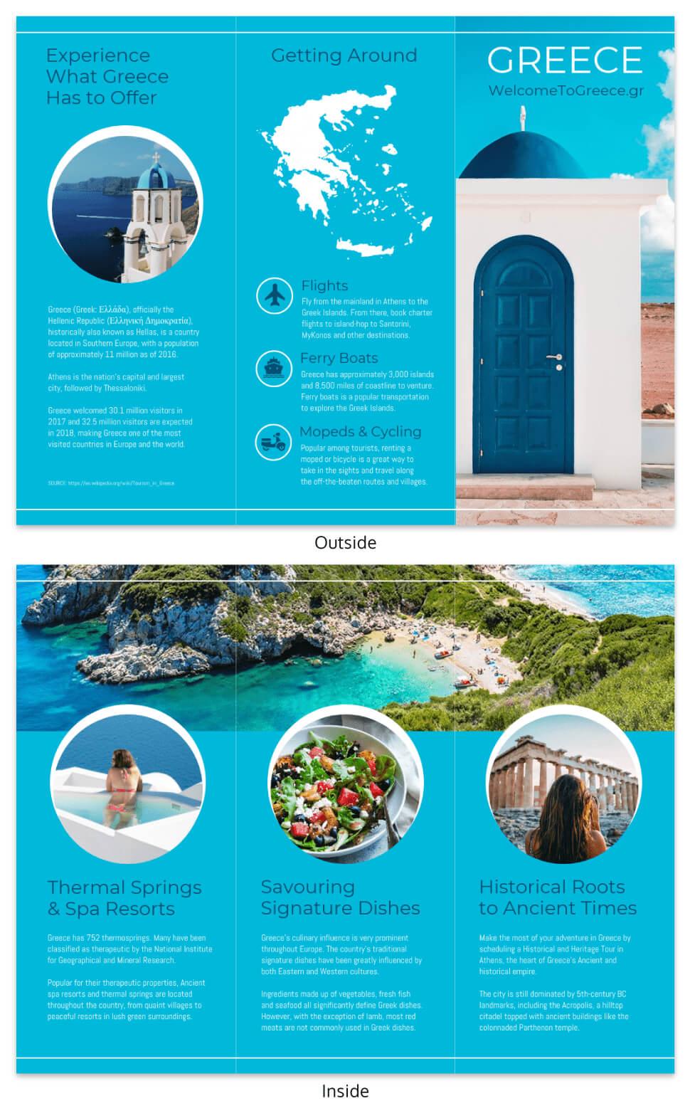 World Travel Tri Fold Brochure Throughout Island Brochure Template