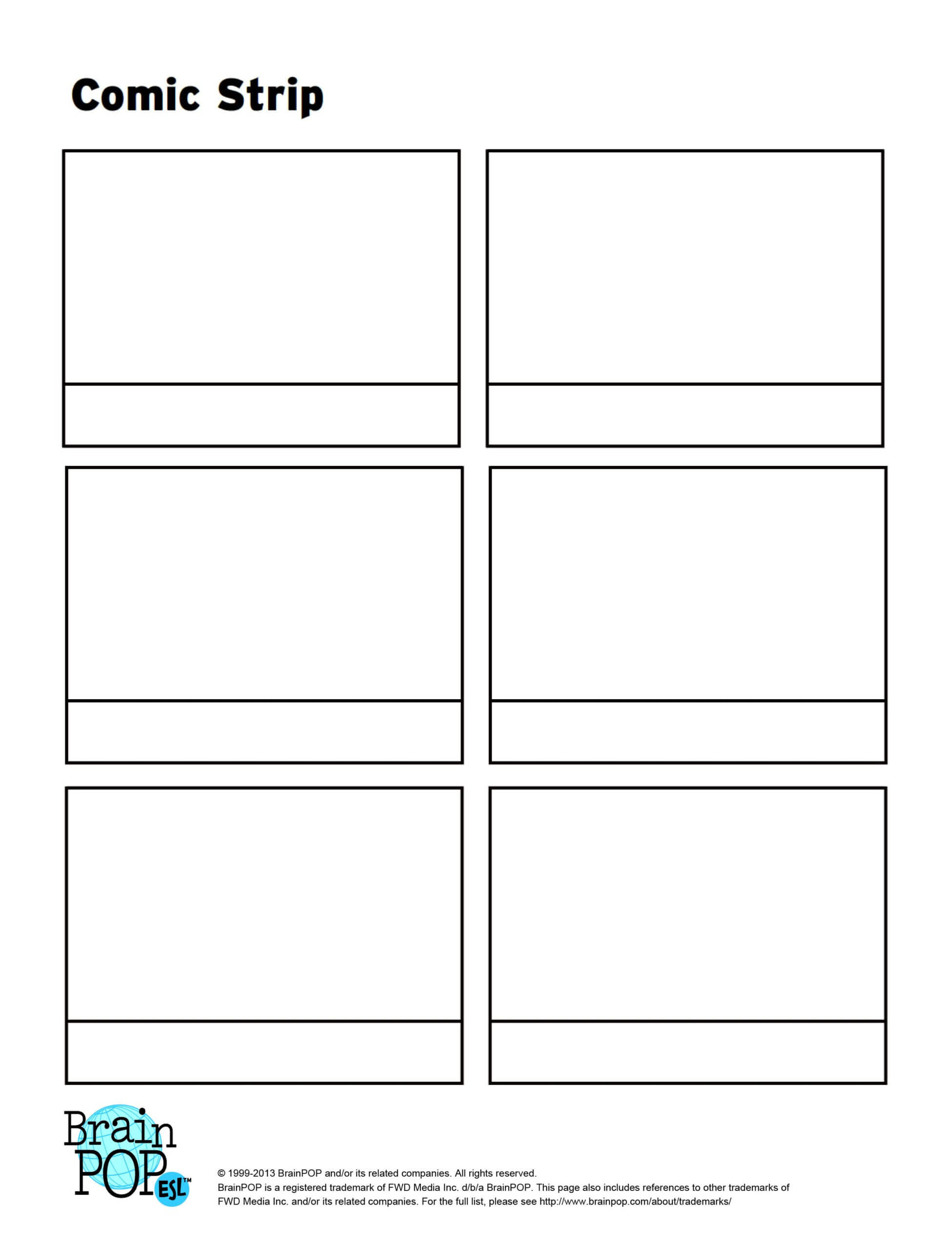 Write, Sequence And Illustrate A Story Using This Blank Intended For Printable Blank Comic Strip Template For Kids