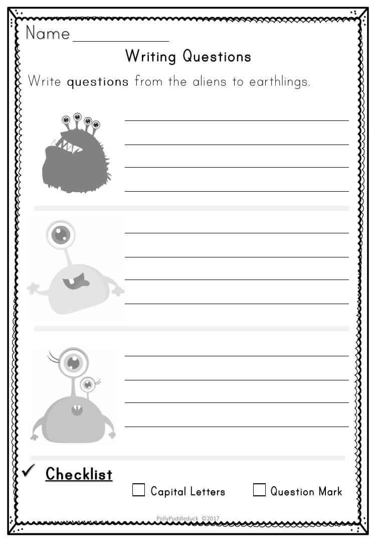 Writing Questions Activity Pack For Ks1 | Report Writing In Report Writing Template Ks1