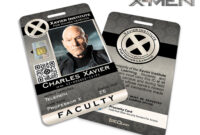 Xavier Institute For Higher Learning 'x-Men' Faculty Id Card inside Mi6 Id Card Template