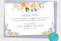 Yellow Rose Funeral Thank You Notes – Funeral Template inside Thank You Card Template Word