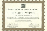 Yoga Alliance Teacher Training Certificate Template Learn intended for This Entitles The Bearer To Template Certificate
