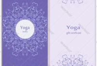 Yoga Gift Certificate Template With Yoga Gift Certificate Template Free