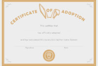 You Are In Good Company: Good On Paper – Bunny Adoption with Blank Adoption Certificate Template