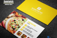 You Must Be Thinking What Is Sandwich Business Card? It's intended for Food Business Cards Templates Free