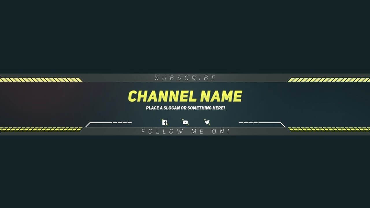 Youtube Banner Template Photoshop Fresh Youtube Banner In Banner Template For Photoshop