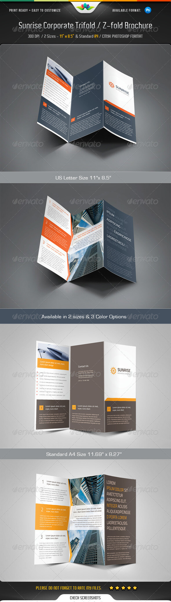 Z Fold Brochure Templates From Graphicriver With Z Fold Brochure Template Indesign