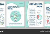 Zoological Park Brochure Template Layout. Animals Species inside Zoo Brochure Template